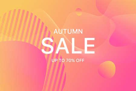 Promo leaflet for your seasonal design. Autumn sale backdrop. Big inscription sale.