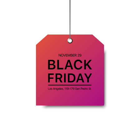 Vector black Friday template. Gradienr label with a big inscription black Friday. Vector sale background.
