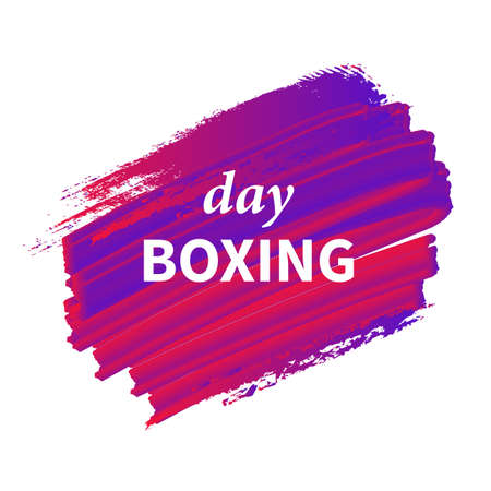 Vector boxing day template. Gradient label with a big inscription boxing day. Vector sale background. Colorful sale background Illustration