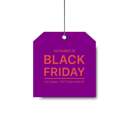 Vector black Friday template. Gradient label with a big inscription black Friday. Vector sale background.