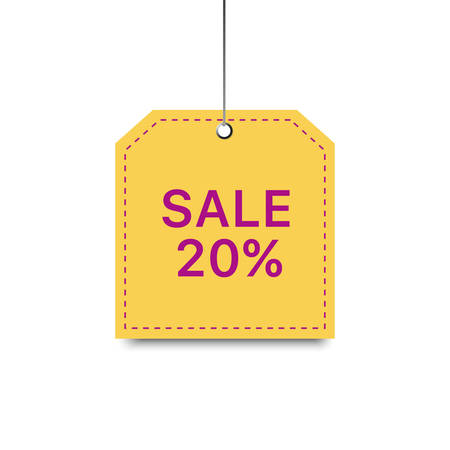 Vector yellow sale template. Vector sale background.
