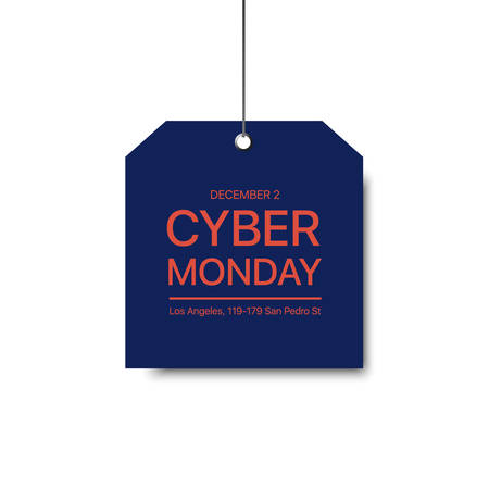 Cyber Monday template. Vector sale template. Colorful sale signboard. Shopping background. Mazarin sale signboard. Illustration