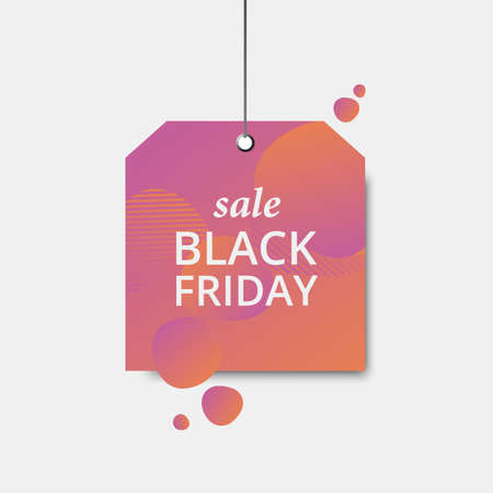 Black friday sale label. Vector sale template. Colorful sale signboard. Shopping background.