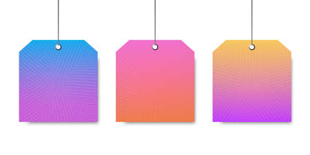 Vector empty template. Colorful signboard. Background for template. Trendy colorful label. Modern design template. Set multicolored signboards. Illustration