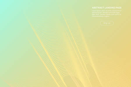 Green gradient landing page design. Fluid distorted grid. Futuristic dynamical background.