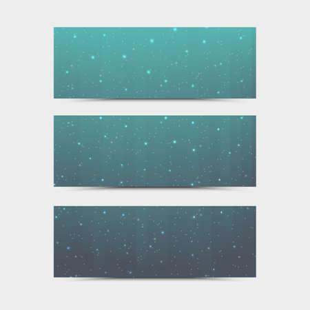 Empty glitter flyer. Vector neon night club banner. Modern designed template for party. Vector fashion brochure. Standard-Bild