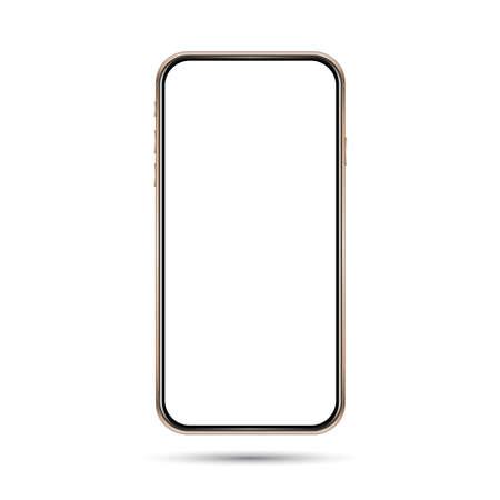 Phone golden black white