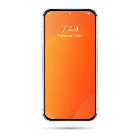 Phone orange wednesday silver Illustration