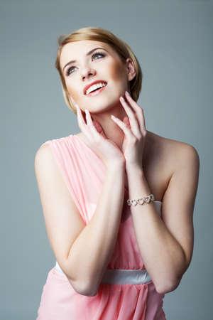 jewlery: Beautiful fashion model looking away Stock Photo