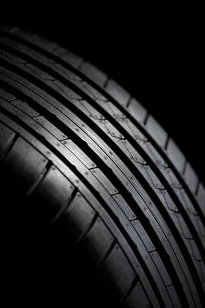 summer sport: Sport summer tire isolated on black