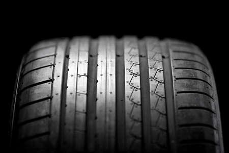 summer sport: Sport summer tire isolated on black background
