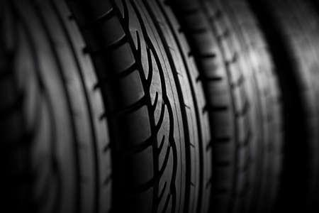 タイヤのスタックをクローズ アップ