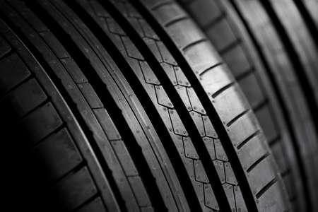 summer tire: Closeup of summer tire