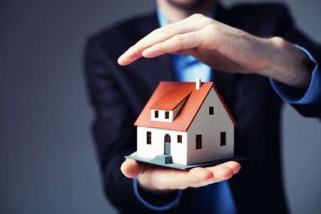 Home insurance concept. Archivio Fotografico