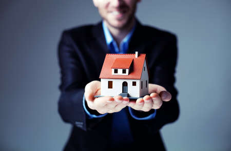 business in hand: Loan for house concept