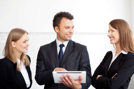 career young: Meeting of business people