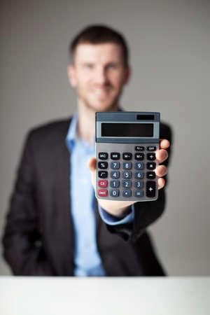 Unternehmer, die Rechner. photo