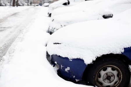 snowfall: Cars stuck after snowfall