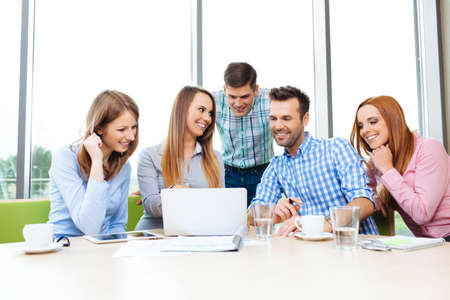 Meeting of corporate business people