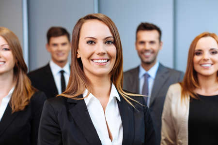 Human Resource: Group of business people. Human resource concept. Stock Photo