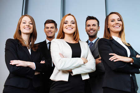 Groupe d'affaires Confiant Banque d'images - 53953676