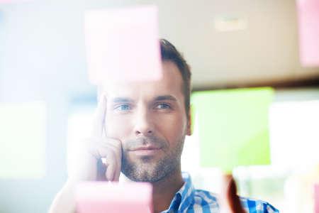 people portraits: Creative businessman thinking