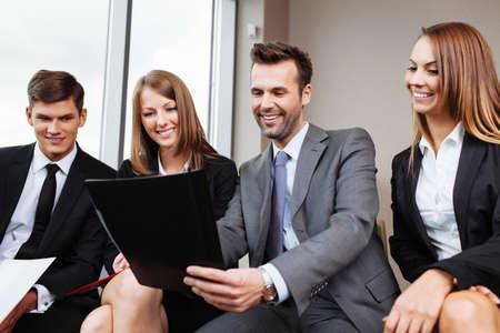 coaches: Business training. Coach teaching employees