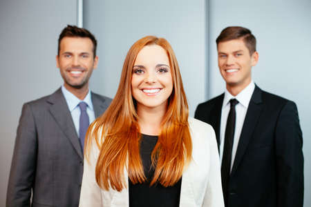 Photo of a group of young confident professionals Foto de archivo