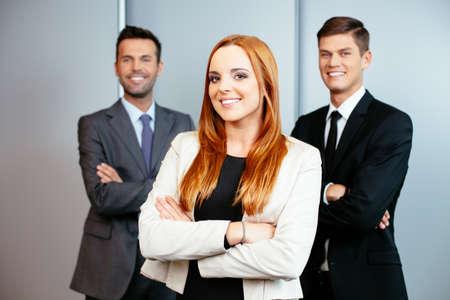 Portrait of three confident professionals