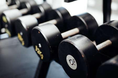 Closeup photo of weightlifting equipment