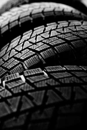 Snow tires background Imagens