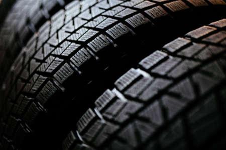 Stack of snow tires Stock fotó - 96359238