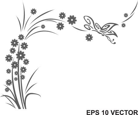 farfalla tatuaggio: farfalla e fiore