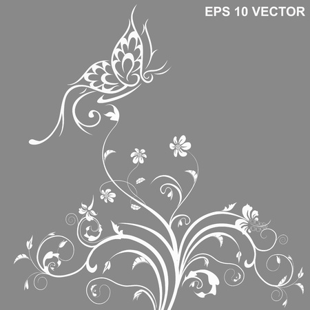 butterfly and flower Stock Vector - 16599502
