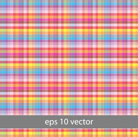 Spring-and-summer collection of plaid  Seamless pattern  Vector