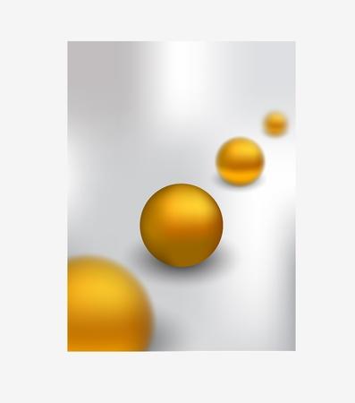 eyecatcher: gold ball Illustration