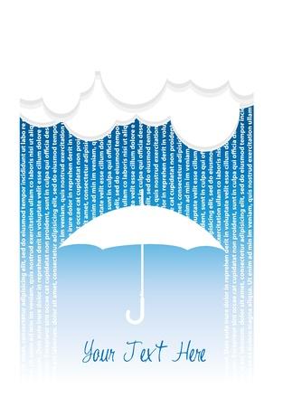 rain and umbrella Stock Vector - 17060806
