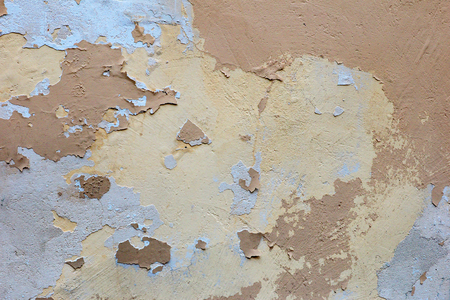 Grunge texture of concrete wall with yellow and brown colors 스톡 콘텐츠