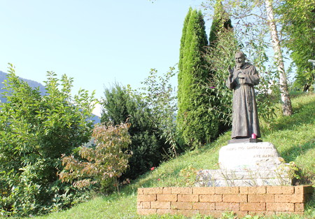 Padre Pio statue erected to the Sanctuary of the Madonna of Blood