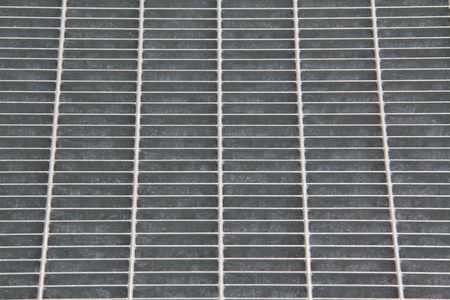 grates: Metal grille with the representation through the dark.