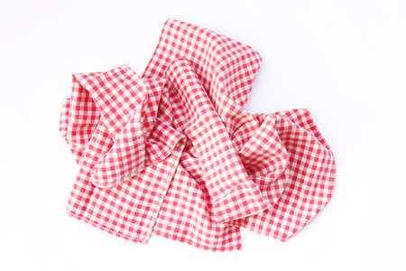 tatter: Dishcloths cotton, ruffled, in good condition new. Red checkered pattern.
