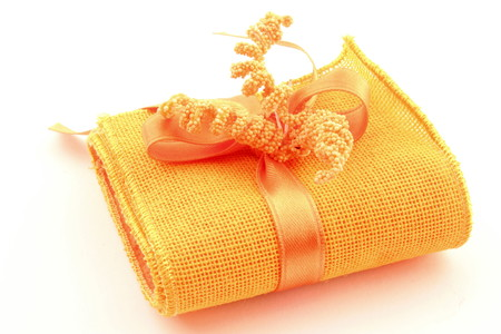 compliment: Bags perforated fabric for ceremonies, events, made in Italy. Stock Photo