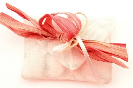 proceedings: Bags perforated fabric for ceremonies, events, made in Italy. Stock Photo