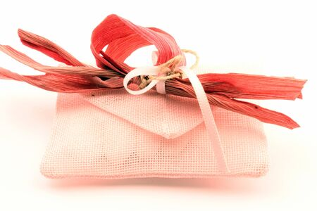 formality: Bags perforated fabric for ceremonies, events, made in Italy. Stock Photo