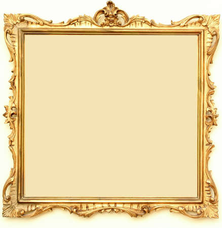 ch: Frame for painting, wood, with gold fittings.