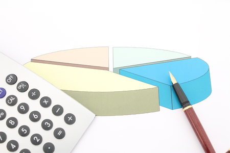 vertical wellness: The design of the graph indicates the activity of Finance, represented by the calculator and pen.
