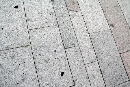 Flooring in a square with big tiles, clear Standard-Bild