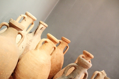 Group of antique vases, terracotta restored