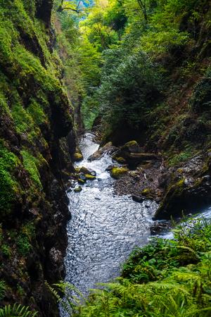 Waterfall Giant. Eastern Abkhazia. Near the town of Tkvarcheli. Akarmara District.