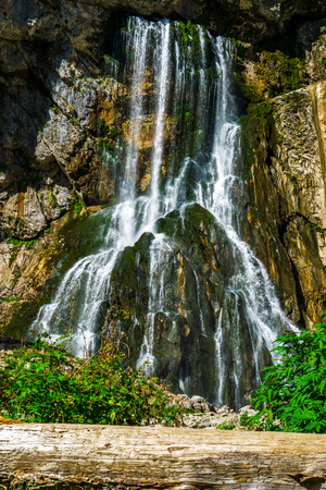 The Gega waterfall. The most famous and largest waterfall in Abkhazia.